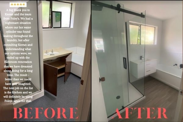 Christchurch bathroom before & after